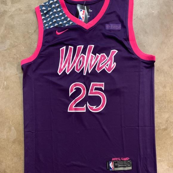 f2b6f6fd08e Derrick Rose  25 Minnesota Timberwolves Jersey